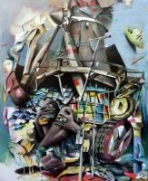 Benjamin Burkard Windmühlen bekämpfen Malerei