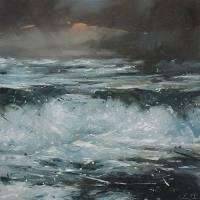 Gemälde Ralf Scherfose Schwere See V ...