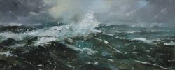 Gemälde Ralf Scherfose Schwere See I ...