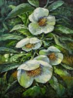 Gemälde Erich Graf Weiße Blüten ...