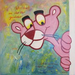 Gemälde Christine Graf Wer hat an der Uhr gedreh ...