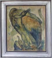 Joseph Hegenbarth Hockender Geier (auf dem Felsennest) Malerei