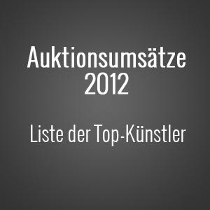 Die Top Künstler 2012 nach Auktionsumsätzen