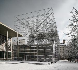 Pinakothek Sanierung - eine Schaustelle als Übergangslösung