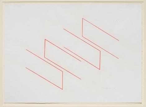 Zeichnungen von Fred Sandback - erste Retrospektive in Winterthur