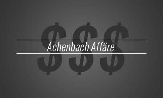 Achenbach Affäre - zweite Strafanzeige durch Rheingold-Sammler