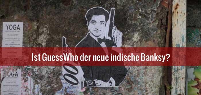"""indischer """"Banksy"""" GuessWho mit neuen provokanten Graffitis"""