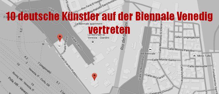 Die 10 deutschen Künstler der Biennale Ausstellung 2015 in Venedig