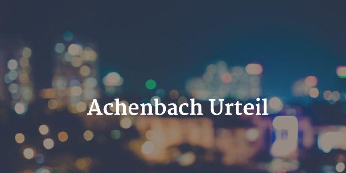 Achenbach Urteil - 6 Jahre Haft für den Kunstberater