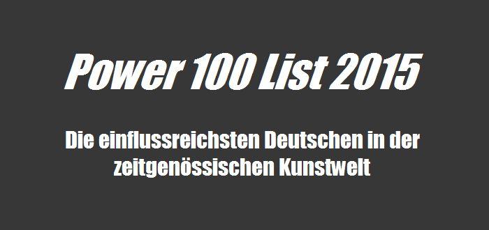 Ranking - die 14 einflussreichsten Deutschen in der zeitgenössischen Kunst