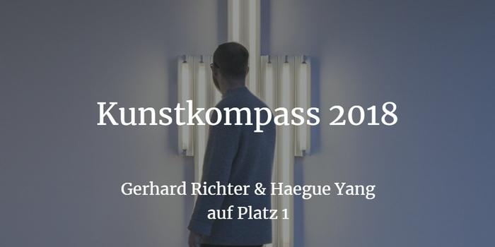 Kunstkompass 2018 - Gerhard Richter & Haegue Yang auf Platz 1