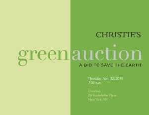 Earth Day - Auktionshaus Christies startet seine Green Auction