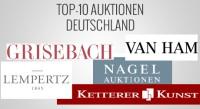 Top 10 Auktionsergebnisse 1.Halbjahr 2013 in Deutschland