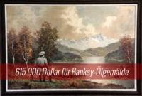Auktion: Banksys Nazi Landschaftsbild erzielt 615.000 Dollar