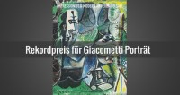 Giacometti Porträt für den Rekordpreis von 32,6 Millionen Dollar versteigert