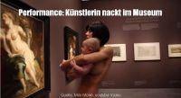 Milo Moiré - was machte diese Frau nackt im Museum?