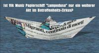 Flüchtlingspolitik: Künstler Vik Muniz lässt riesiges Papierschiff in Venedig schwimmen