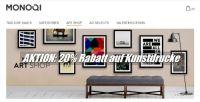 20% Rabatt auf Kunstdrucke internationaler Künstler bei MONOQI