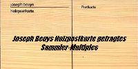 Joseph Beuys Holzpostkarte signiert - das gefragte Sammler Multiples