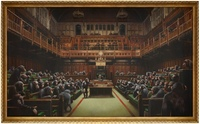 Banksy - Schimpansen Parlament erzielt Rekordpreis von 11 Mio. Euro