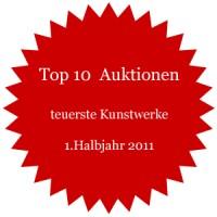 Auktionen - Liste der 10 teuersten Kunstwerke im 1.Halbjahr 2011