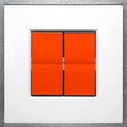 Skulptur Jürgen Paas Jeu de carré (orange) ...