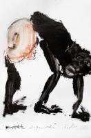 Zeichnung Thomas Putze Affe (Bonobo) ...