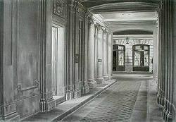 """Zeichnung Clemens Erlenbach """" Nächtliche Passage """" II ..."""